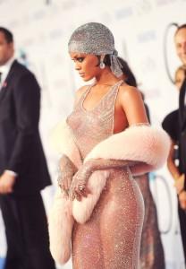 rihanna in a see-through dress