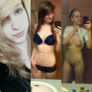 Three stages of naked