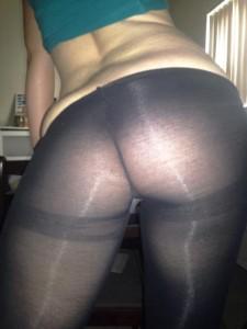 When my booty was juicier in black nylon (f)