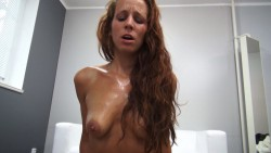 Sultry Redhead Receives Rock hard Drill with Blessed Ending