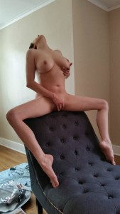 He let me play with mysel(f) in between shots on the chaise :)