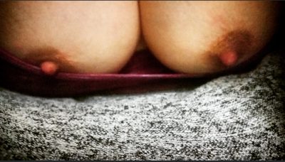 A naughty little peek down the [f]ront of my shirt