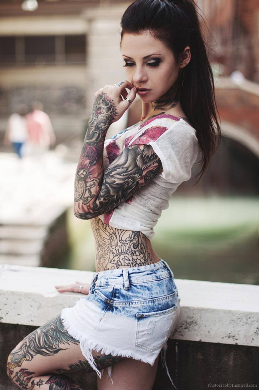 Super Hot Covered In Tattoos