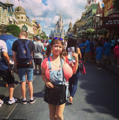 Fuko at disneyland