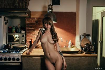Cutie in the kitchen