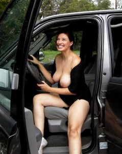 Naughty in the car.