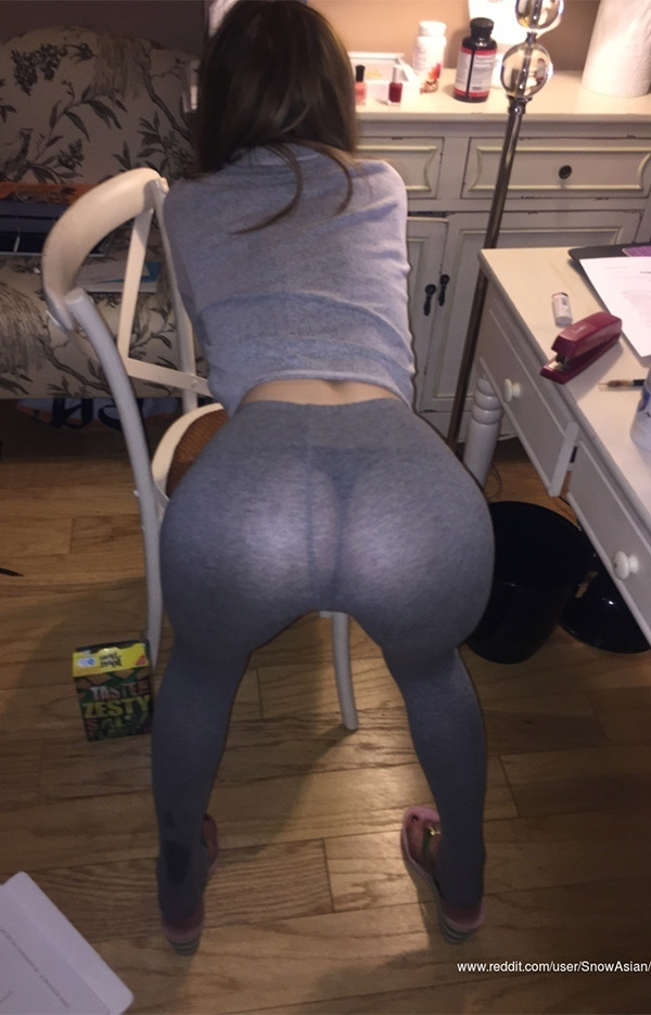 Bent over & See through
