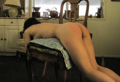 Waiting for the rest of my spanking (f)