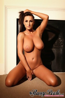 Stacey Poole naked on her knees