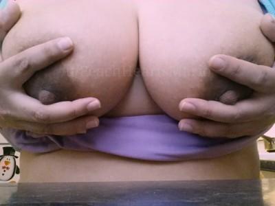 Making some breakfast and felt like sharing my boobs. Happy Sunday