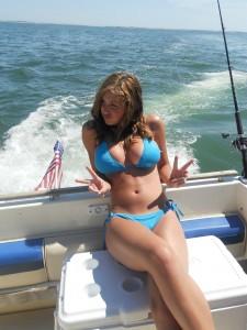 Curvy beauty on the boat