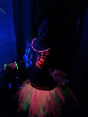 Body paint and tutu