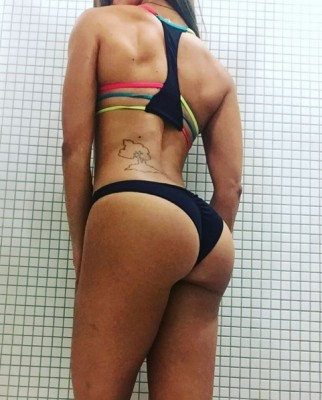 She might squat.