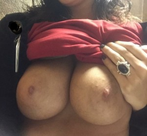 (F)lashing My Big Tits At Work