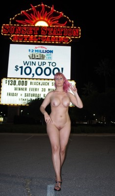 Outside the casino
