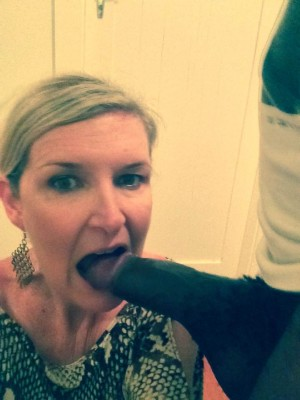 Selfie with a black cock