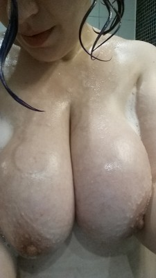 Slippery and soapy wet.