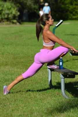 Stretch on a bench