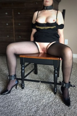 Submissive...in my collar.