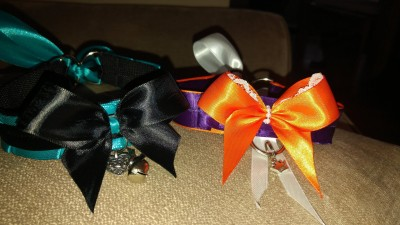 Two special collars made to order. Hope you like!