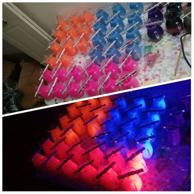 UV wax play candles in pitchers - hot pink