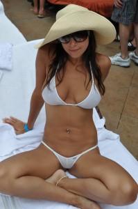 A white bikini on a tan body always looks hot.