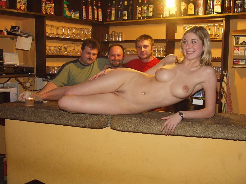 Showing off on the bar.