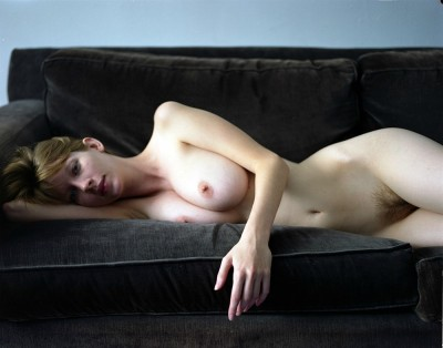 Mandi Collins on a couch