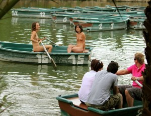 Bashful (and nude) Boaters