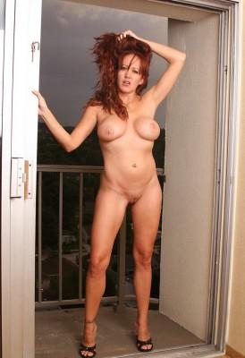 Mature girl in the doorway