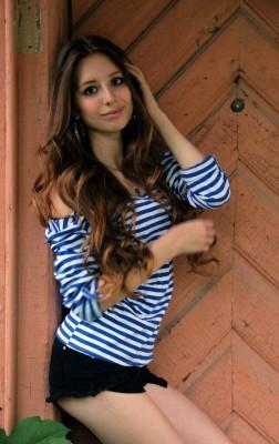 In stripes