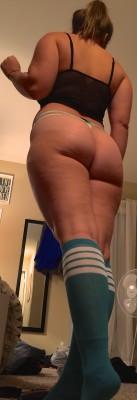 high socks big butt
