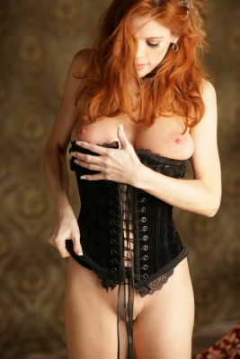 Popping out of her corset