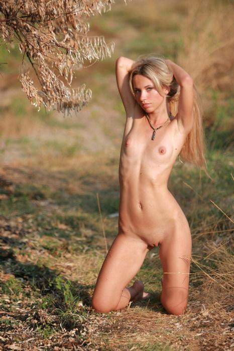 Posing in nature