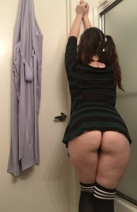 Cum take a peek under my dress (f)