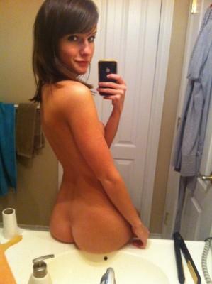 Showing her beautiful backside