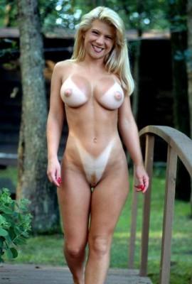 Tanlined Blonde Milf