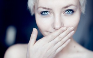 Steel blue eyes