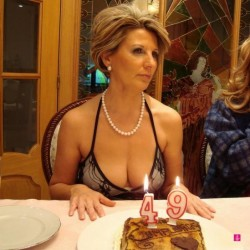 The 49 year old with the breasts of a 21 year old