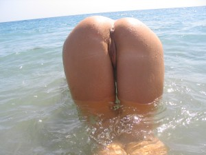 Booty in the ocean