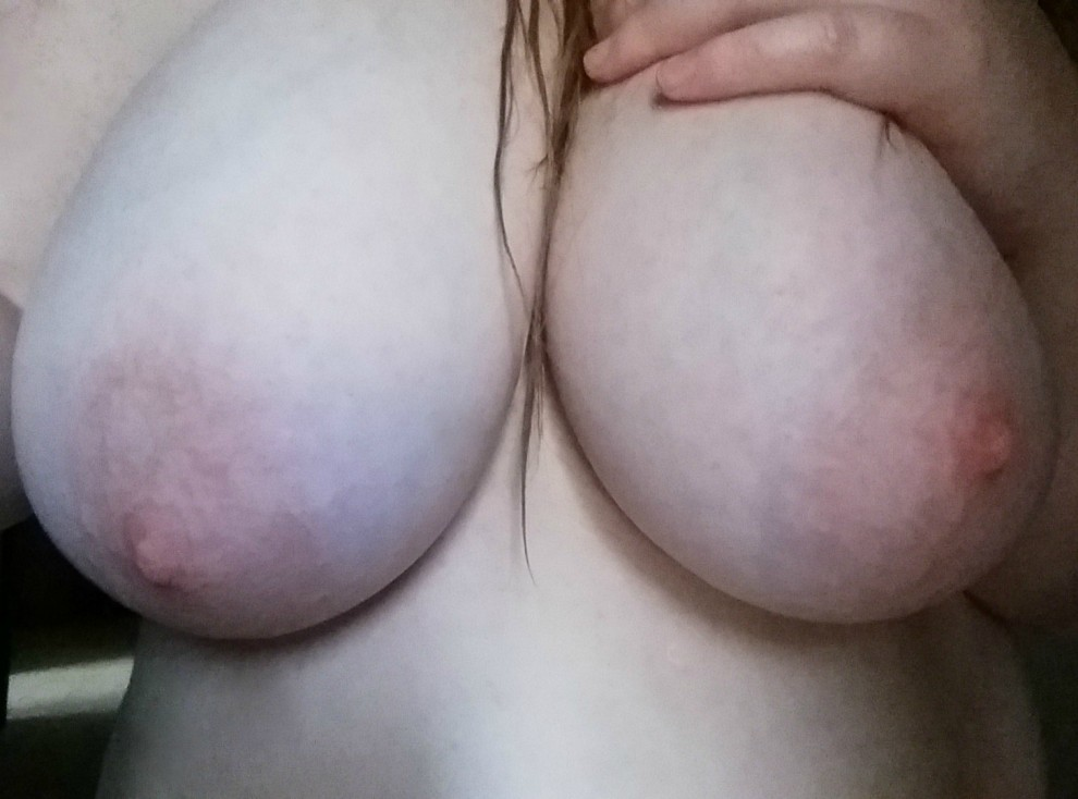 Fresh from a shower.