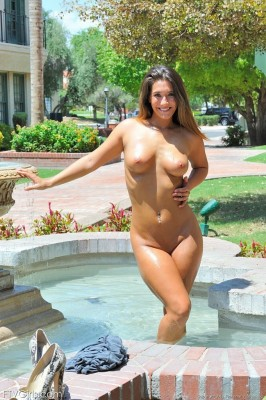 Nude in the park