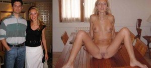 Skinny hotty on/off on the table