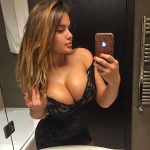 Sexy bathroom selfie