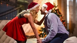 Golden-haired cutie in xmas clothing rails firm man sausage in act pinch