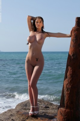 Corinne on the Shoreline