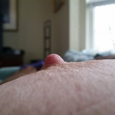 A cold nipple!