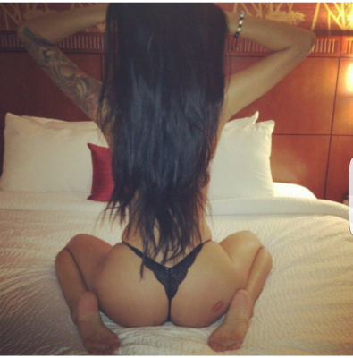 Asian ass on bed