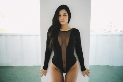 Back In Black: Misa Campo Thigh Gap