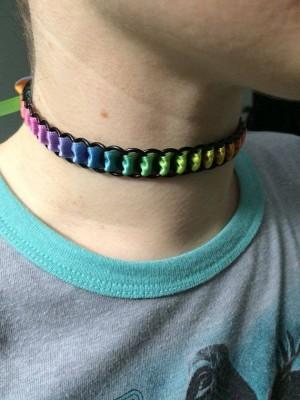 Chain Mail Ribbon Collar